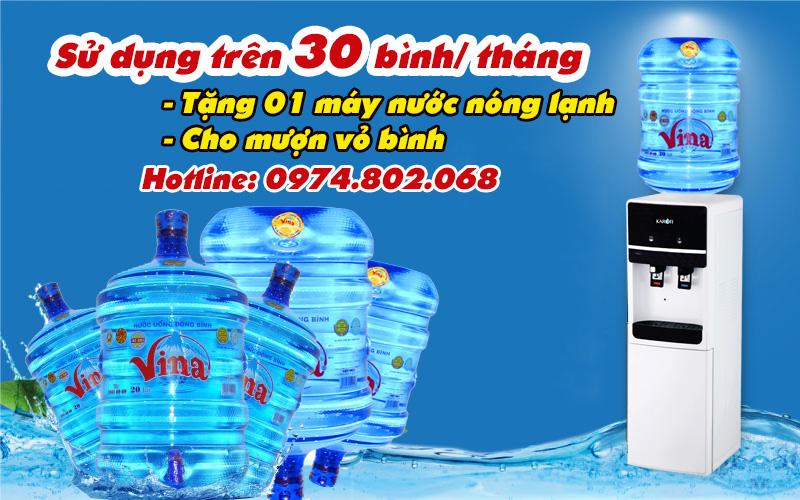 mua nước tặng máy nước nóng lạnh