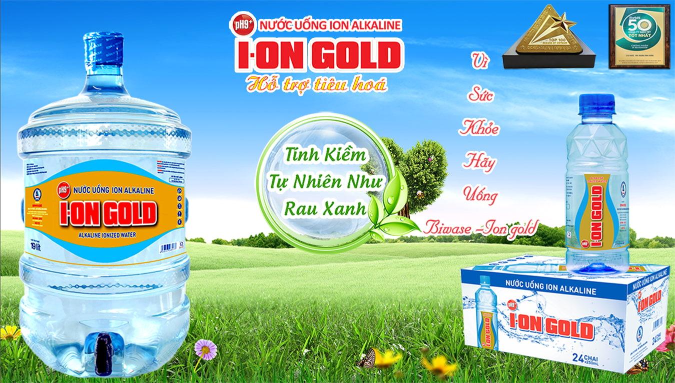 nước uống ion gold
